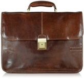 Chiarugi Large Brown Leather Briefcase
