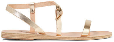 Ancient Greek Sandals Niove Metallic Leather Sandals - Gold