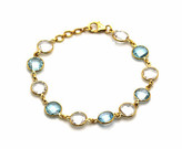 Tresor Collection - Sky Blue Topaz Round & Crystal Round Bracelet In 18K YG
