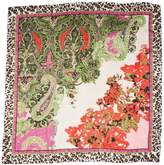 Passigatti Silk Floral Paisley With Animal 110X110 Women's Scarf