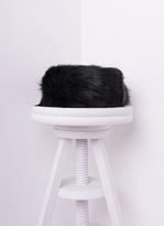 Missy Empire Delia Black Faux Fur Headband