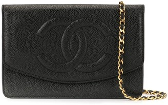 Chanel Pre Owned 1995 CC chain shoulder wallet