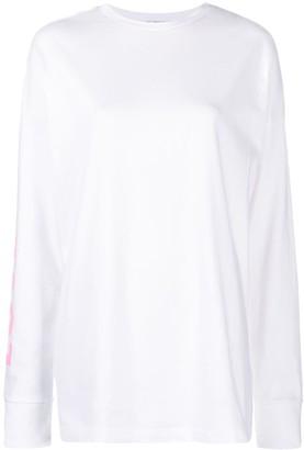 Sjyp Slogan-Print Cotton T-Shirt