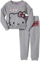 Hello Kitty Active Set (Toddler/Kid) - Heather Gray-2T