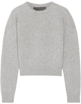 The Elder Statesman Cropped Cashmere Sweater - Gray