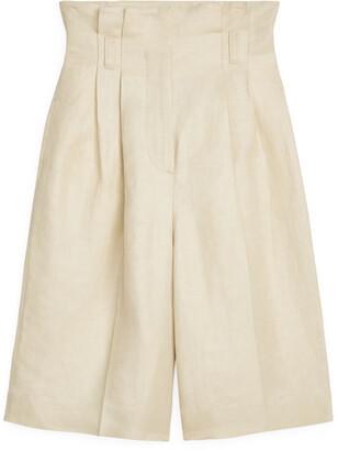 Arket Linen Blend Pleated Culottes