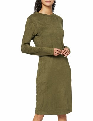 Urban Classics Women's Ladies Peached Rib Dress Ls