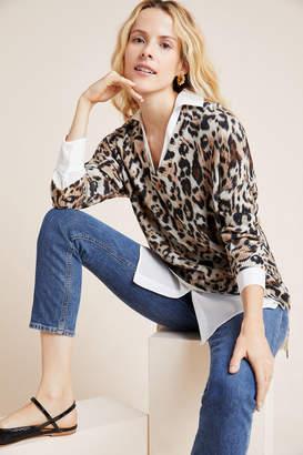 Brochu Walker Leopard Layered Top