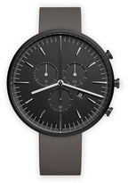 Uniform Wares M42 Men's chronograph watch in PVD black with dark grey nitrile rubber strap