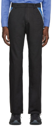 AFFIX Grey and Blue Track Trousers