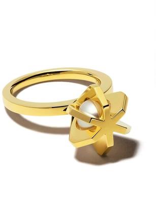 TASAKI 18kt yellow gold Stellar ring