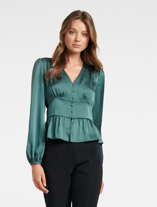 Ever New Dorothy Plunge Button Top