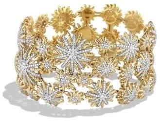 David Yurman Starburst Mosaic Bracelet With Diamonds In 18K Gold