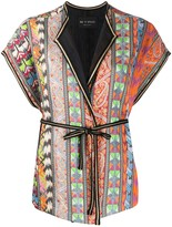 Etro embroidered waist-tied cardigan