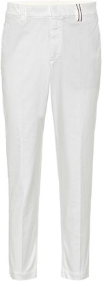 Brunello Cucinelli Mid-rise stretch-cotton pants