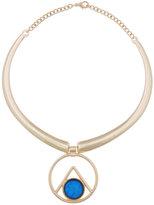 ELOQUII Plus Size Blue Stone Collar Necklace