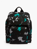 Lanvin Black Camouflage Backpack