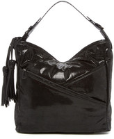 Sondra Roberts Mini Lizard Embossed Leather Hobo