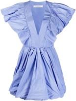 Philosophy di Lorenzo Serafini flared ruffled mini dress