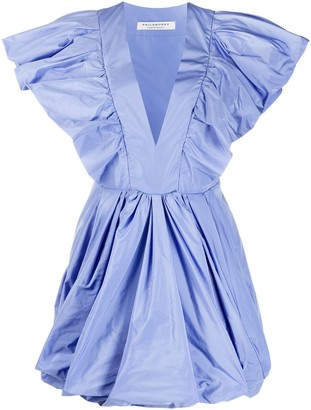 Philosophy di Lorenzo Serafini Flared Ruffled Mini Dress