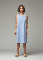 Engineered Garments Women's Square Neck Dress in Light Blue Cotton Dobby Stripe Size 0 100% Cotton