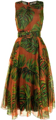 Samantha Sung Aster botanical-print dress