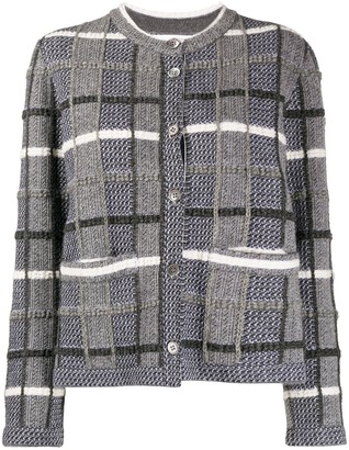 Thom Browne Check-Pattern Cardigan