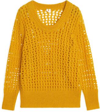 Arket Lace Stitch Wool Blend Jumper