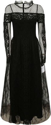 RED Valentino Laced Sleeve Long Dress
