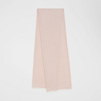 Burberry Monogram Wool Silk Jacquard Scarf