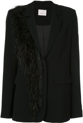 Cinq à Sept Portia feather blazer