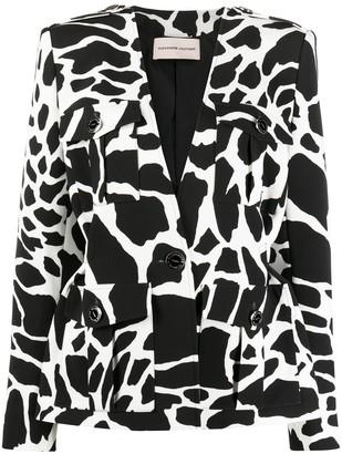 Alexandre Vauthier Animal-Print Single Breasted Jacket