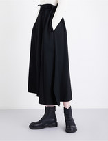 Yohji Yamamoto Gathered high-rise wool skirt