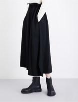 Yohji Yamamoto Gathered high-rise wool skirt