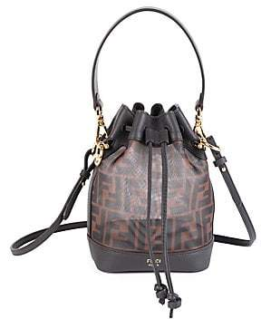 Fendi Women's Mini Mon Tresor Mesh Bucket Bag