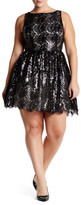 BB Dakota Hart Sequin Embellished Lace Tulle Dress (Plus Size)