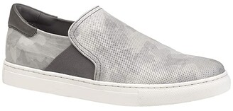 Trask Ayers Perf (Gray Camouflage Italian Calfskin) Men's Shoes