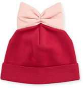 Federica Moretti Knit Beanie w/ Nylon Bow