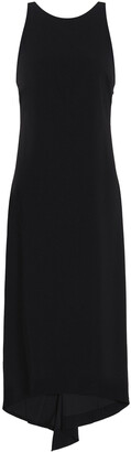 Halston Cutout Crepe Midi Dress