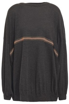 Brunello Cucinelli Oversized Bead-embellished Cashmere And Silk-blend Sweater