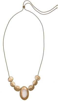 The Sak Shell Stone Pendant Necklace