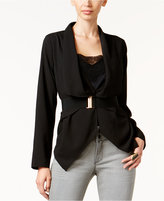 Thalia Sodi Draped Belted Jacket, Only at Macy's