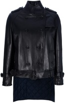 Givenchy quilted flap leather jacket