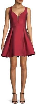 Sequin Hearts Sleeveless Princess Cut Fit--Flare Dress