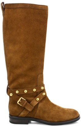 See by Chloe Janis Studded Knee-High Suede Boots
