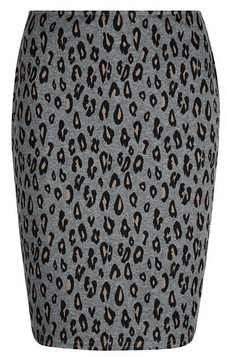 Dorothy Perkins Womens Tall Grey Animal Print Mini Skirt, Grey