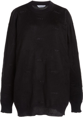 Balenciaga Embroidered Cotton-Knit Sweater