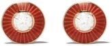 Selim Mouzannar 18kt rose gold diamond Mina stud earrings
