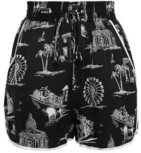 Maje Printed Satin Shorts