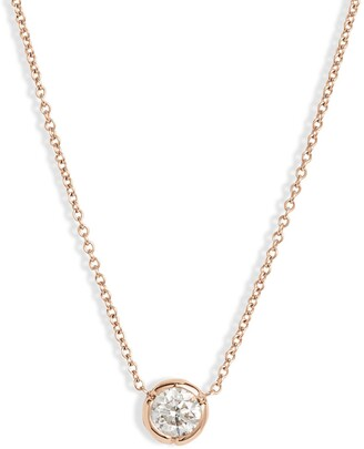 Bony Levy Large Bezel Diamond Solitaire Necklace